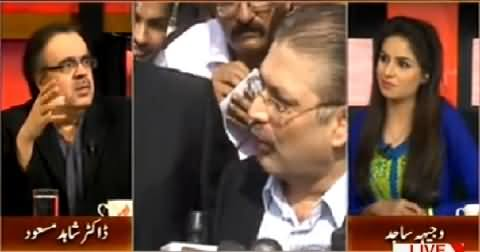 Dr. Shahid Masood Making Fun of Sharjeel Memon On His Road Sweeping Campaign