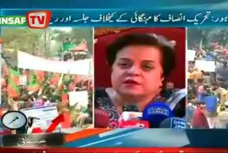 Dr. Shireen Mazari Talking to Express News on PTI Protest in Lahore - 22nd December 2013