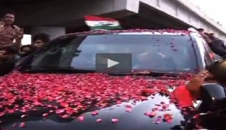 Dr. Tahir ul Qadri Reached Lahore, Congratulating Whole Pakistan on Gathering in Lahore