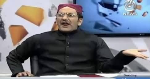 Dummy of Zardari Making Fun of Najam Sethi & Muneeb Farooq