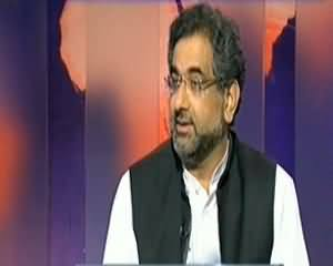 Dunya @ 8 with Malick (Exclusive Interview Shahid Khaqan Abbasi) - 28th October 2013