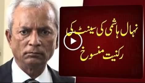 Election Commission De-Notifies Nehal Hashmi From Senate