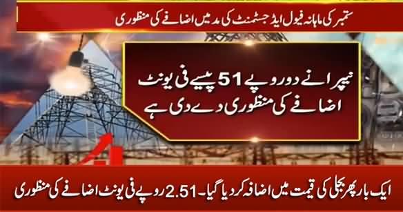 Electricity Prices Increased By 2.51 Rupees Per Unit