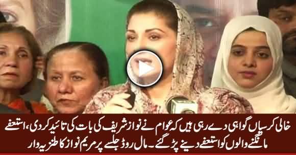 Empty Chairs in Opposition Jalsa Endorse Nawaz Sharif's Stance - Maryam Nawaz
