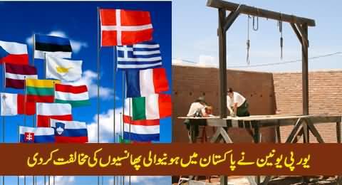 European Union Opposed Restoration of Death Penalty in Pakistan