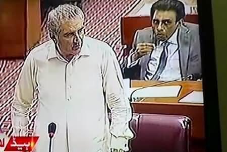 Exchange of Funny Words Between Shah Mehmood Qureshi & Speaker Ayaz Sadiq in Parliament