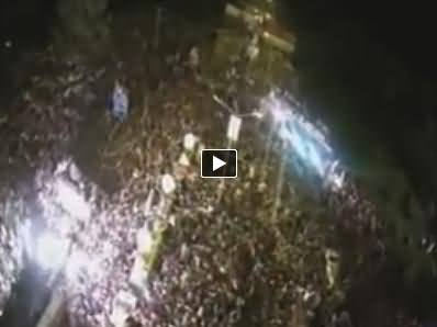 Exclusive Coverage Of PTI Azadi March Dharna Through Aerial Camera
