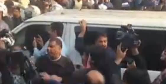 Exclusive Footage of Khawaja Saad Rafique And Khawaja Salman Rafique Arrest