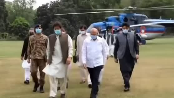 Exclusive Footage of PM Imran Khan's Entry in Lahore on Helicopter