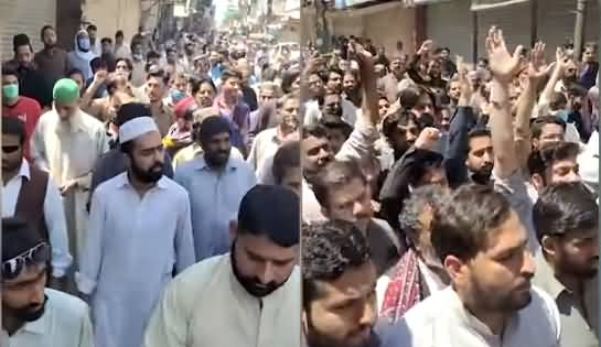 Exclusive: Huge Number of TLP Protesters Gather At Sheikh Rasheed's Residence Lal Haveli