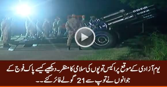 Exclusive Video: 21-Gun Salute On 74th Independence Day Of Pakistan
