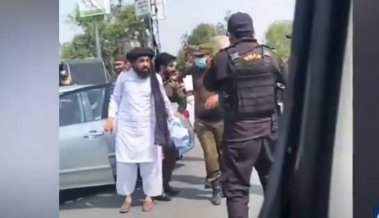 Exclusive Video: Police Arresting Molvi Khadim Rizvi's Son (Saad Rizvi)