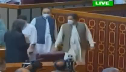 Exclusive View of PM Imran Khan's Dabbang Entry in National Assembly