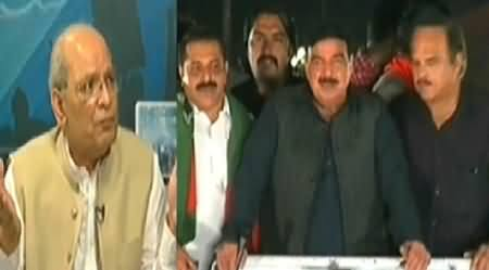 Express News (Special Transmission Azadi & Inqilab March) 11PM To 12AM - 26th August 2014