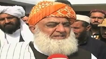 Extremism is Being Promoted in Pakistan, All Politicians Should Be United - Fazal ur Rehman