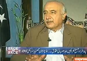 Face 2 Face (CM Balochistan Dr. Abdul Malik Exclusive Interview) – 20th March 2014