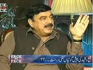 Face To Face (Sheikh Rasheed Ahmed Exclusive Interview) - 20th February 2014