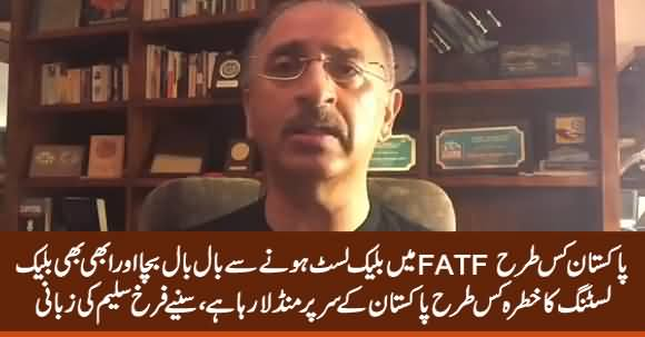Farrukh Saleem Revealed How Pakistan Narrowly Escaped From Being Blacklisted By FATF