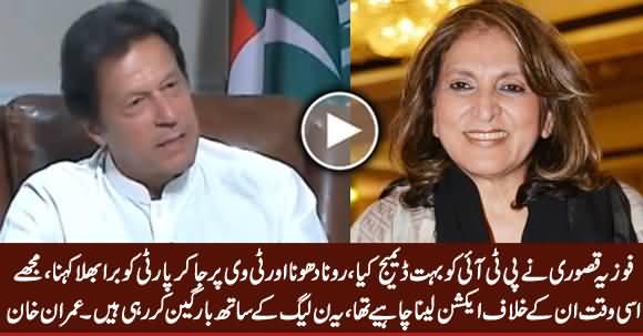 Fauzia Kasuri Damaged PTI A Lot, She Is Negotiating With PMLN - Imran Khan