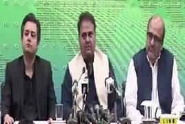 Fawad Chaudhry, Shahzad Akbar And Hammad Azhar's Press Conference –14th April 2019