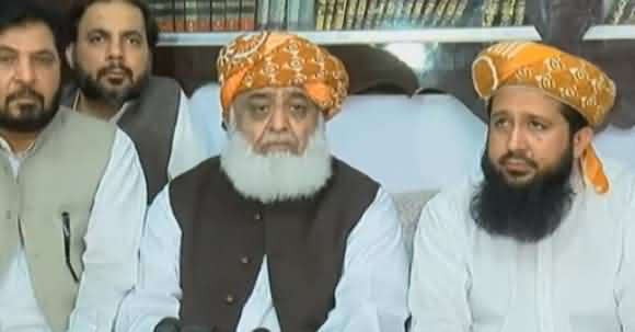 Fazal ur Rehman Talks About His Negotiations With Government In Press Conference
