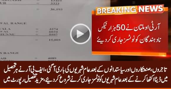 FBR to Take Action Against Locals' Non-Tax Payers in Different Cities