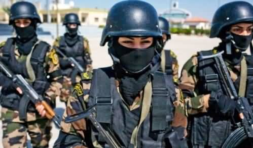 Female Commandos Included in the Presidential Guards of Palestine
