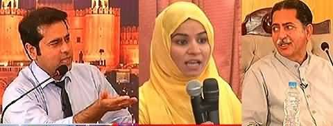 Female Student & Anchor Imran Khan Bashes Sharif Brothers, Mian Javed In Trouble