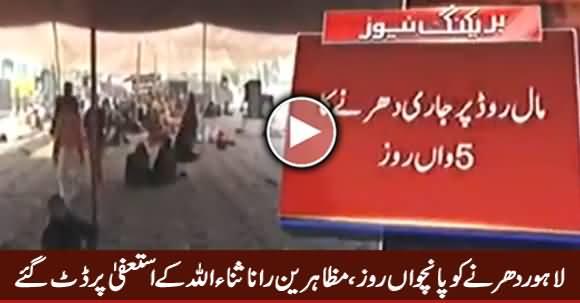 Fifth Day of Lahore Dharna, Protesters Demanding Rana Sanaullah's Resignation