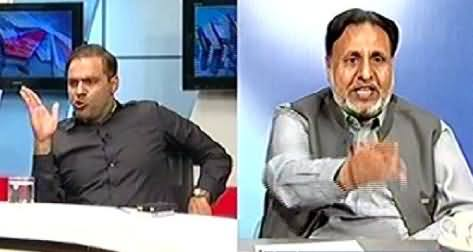 Fight Between Abid Sher Ali and Mehmood ur Rasheed in Live Show