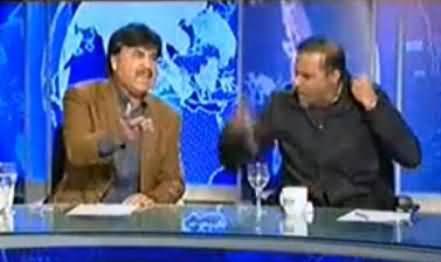 Fight Between Abid Sher Ali and Shaukat Yousafzai on Taking Maryam Nawaz Name