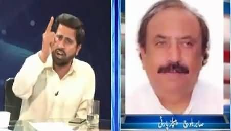 Fight Between Fayaz-ul-Hassan Chohan And Sabar Baloch (PPP) In Live Show
