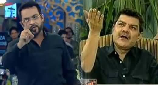 Fight Between Mubashir Luqman and Amir Liaquat Hussain - Used Abusing Language Against Each Other