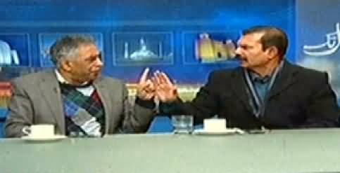 Fight Between Shahid Latif And Zubair Umar, Jamshaid Dasti Also Jumps Into the Fight