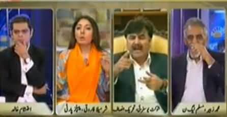 Fight Between Shaukat Yousafzai and Sharmila Farooqi in Live Show