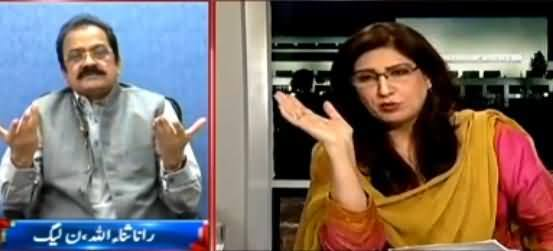 Fight Between Shehla Raza & Rana Sanaullah on Zulfiqar Mirza Issue