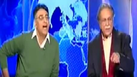 Fight Between Two Cool Minded Personalities Asad Umar and Pervez Rasheed