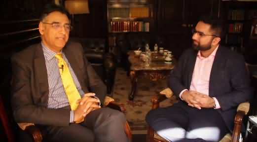 Finance Minister Asad Umar Exclusive Interview in New York (America)