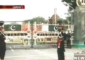 Flag Hoisting Ceremony At Wahga Border Pakistan on Defence Day 6th September 2013