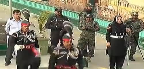 Flag Lowering Ceremony at Wagah Border Lahore - 23rd March 2017