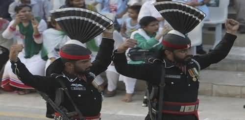 Flag Lowering Ceremony in Wagah Border - 14th August 2018