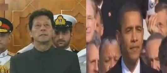 Fumbling in Oath taking Ceremony of Imran Khan Remembered Obama