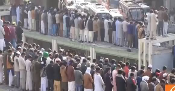Funeral Prayers Of Allama Khadim Rizvi Offered In Lahore, Thousands Attended