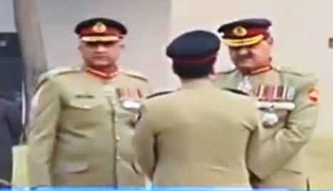 Gen.Qamar Bajwa, Gen. Raheel Sharif Laid floral Wreaths Over The Graves of the Martyred