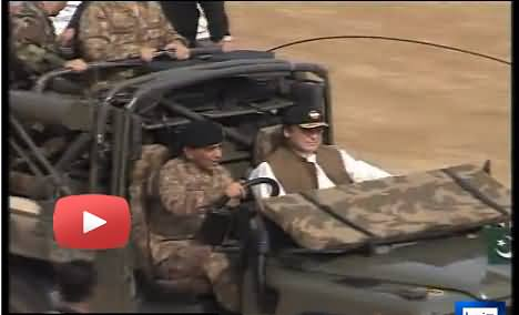 General Kyani Drives the Jeep himself Along with Nawaz Sharif and Excercise Military Practice