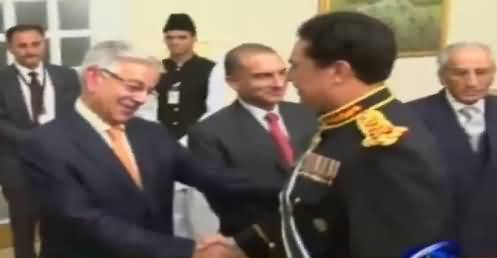 General Raheel Sharif Shaking Hands With Everyone Including Khawaja Asif, Exclusive Video