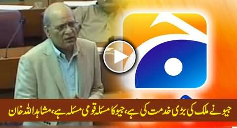 Geo & Jang Group Have Served Pakistan A Lot, Geo's Issue is Our National Issue - Mushahidullah Khan