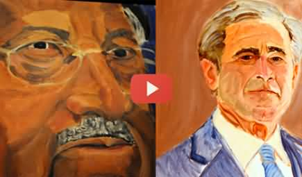 George W Bush Paints the Portrait of Pervez Musharraf and 30 Other World Leaders