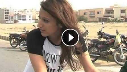 Girls Cycle Race Begins in Karachi For Peace, Karachi Girls Much Excited