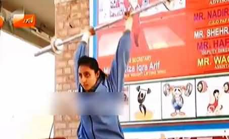 Girls Weightlifting in Punjab Youth Festival - Girls Participating Like Boys
